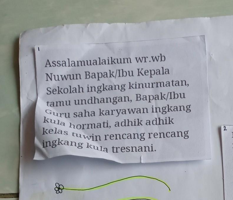 Contoh Pidato Bahasa Jawa Tentang Perpisahan Sekolah Pigura