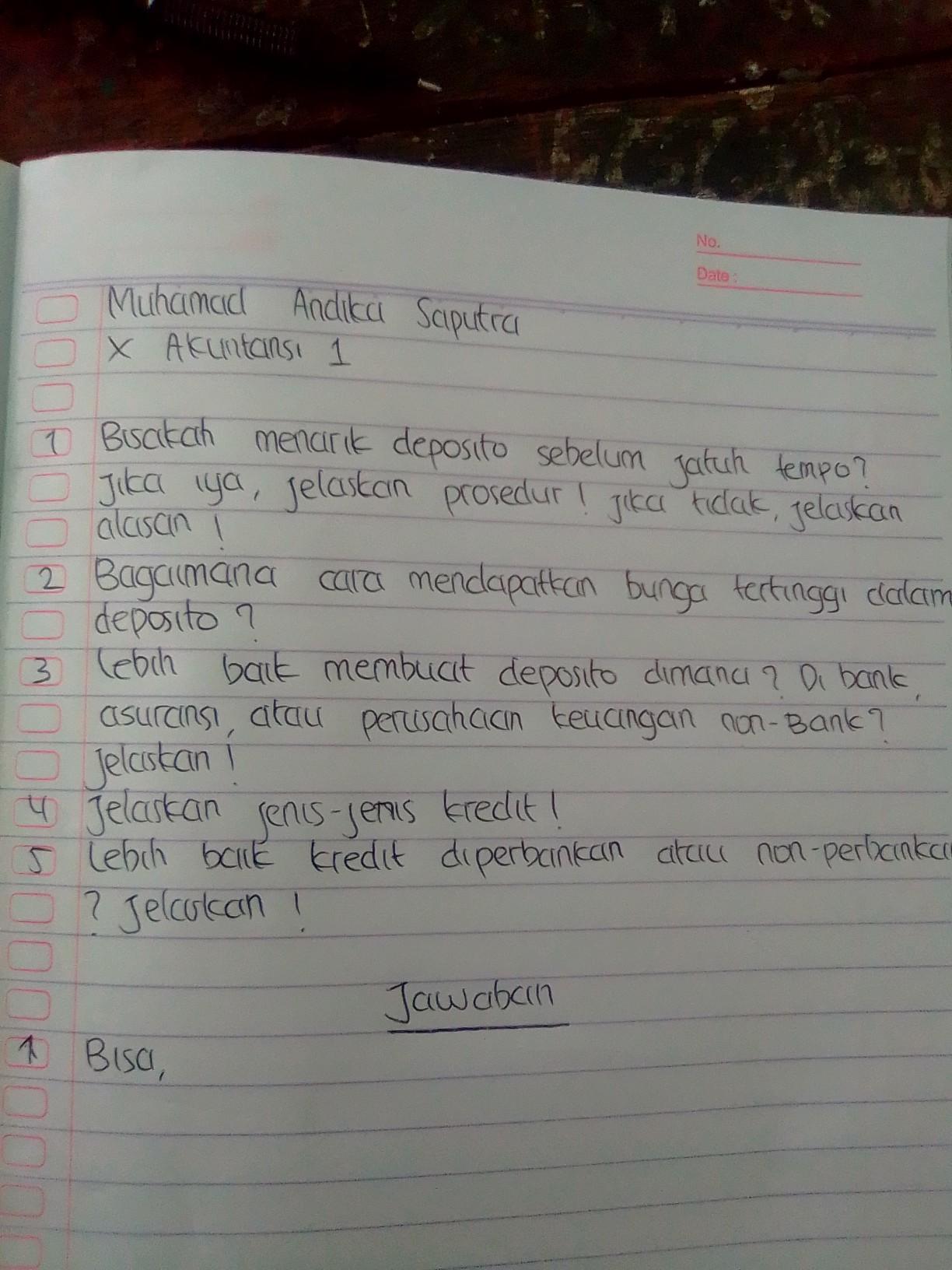 Contoh Soal Dan Jawaban Perhitungan Deposito Berjangka Bali Teacher