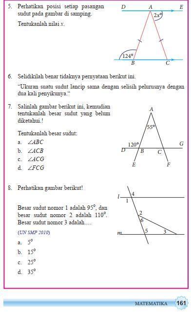 Jawaban Matematika Semester 2 Kelas 7 Halaman 161 Brainly Co Id