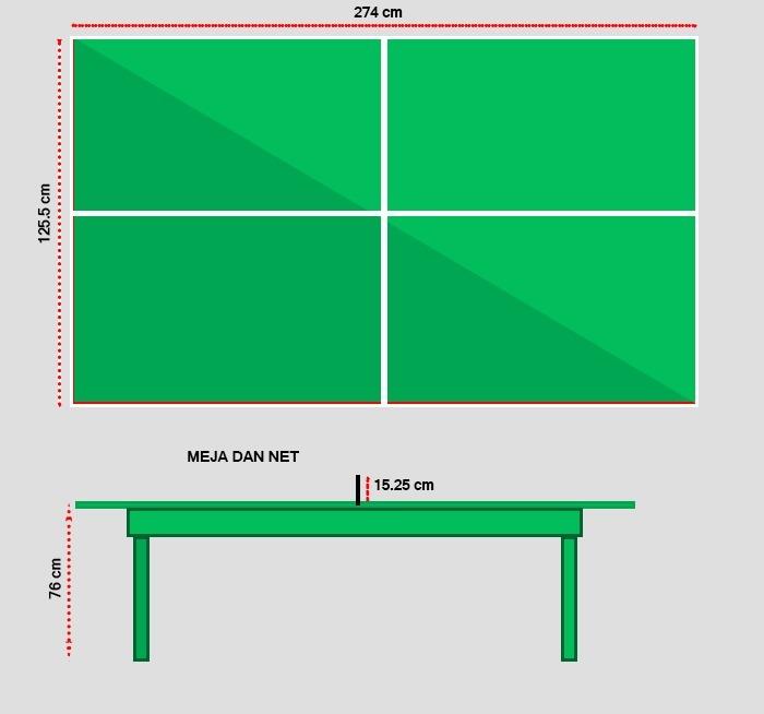 Gambar Lapangan Tenis Meja Beserta Keterangan Brainly Co Id