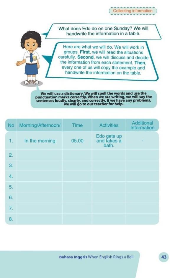 Kakak Tolong Bantu Jawaban Bahasa Inggris Kelas 7 Halaman 43 Brainly Co Id