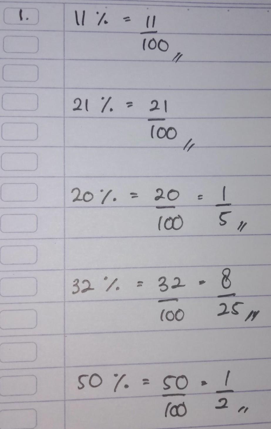 1 Ubalah Bilangan Bilangan Berikut Menjadi Pecahan Biasa Dalam Bentuk Yang Paling Sederhana A Brainly Co Id
