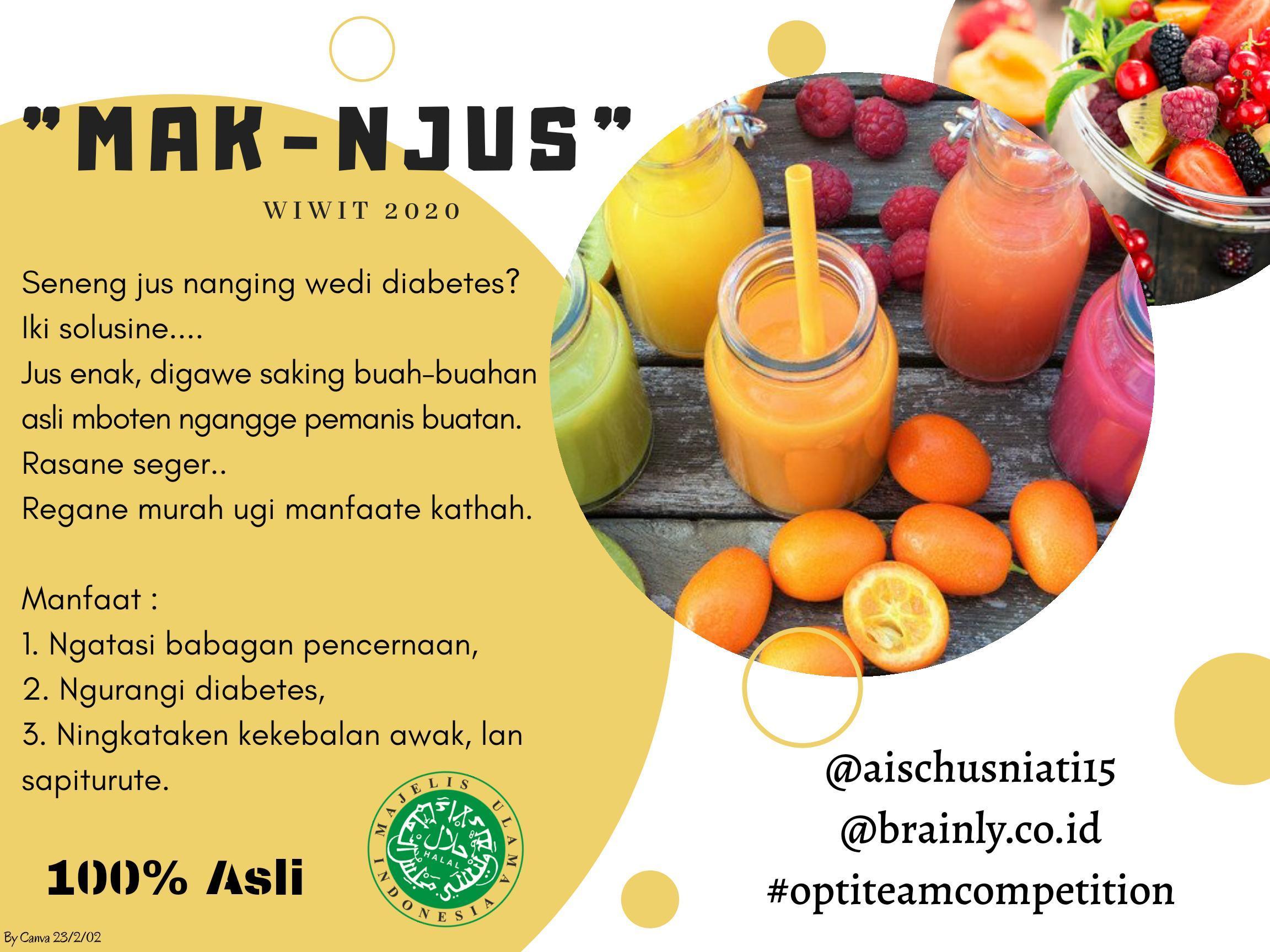 Contoh Iklan Menggunakan Bahasa Jawa Brainly Co Id