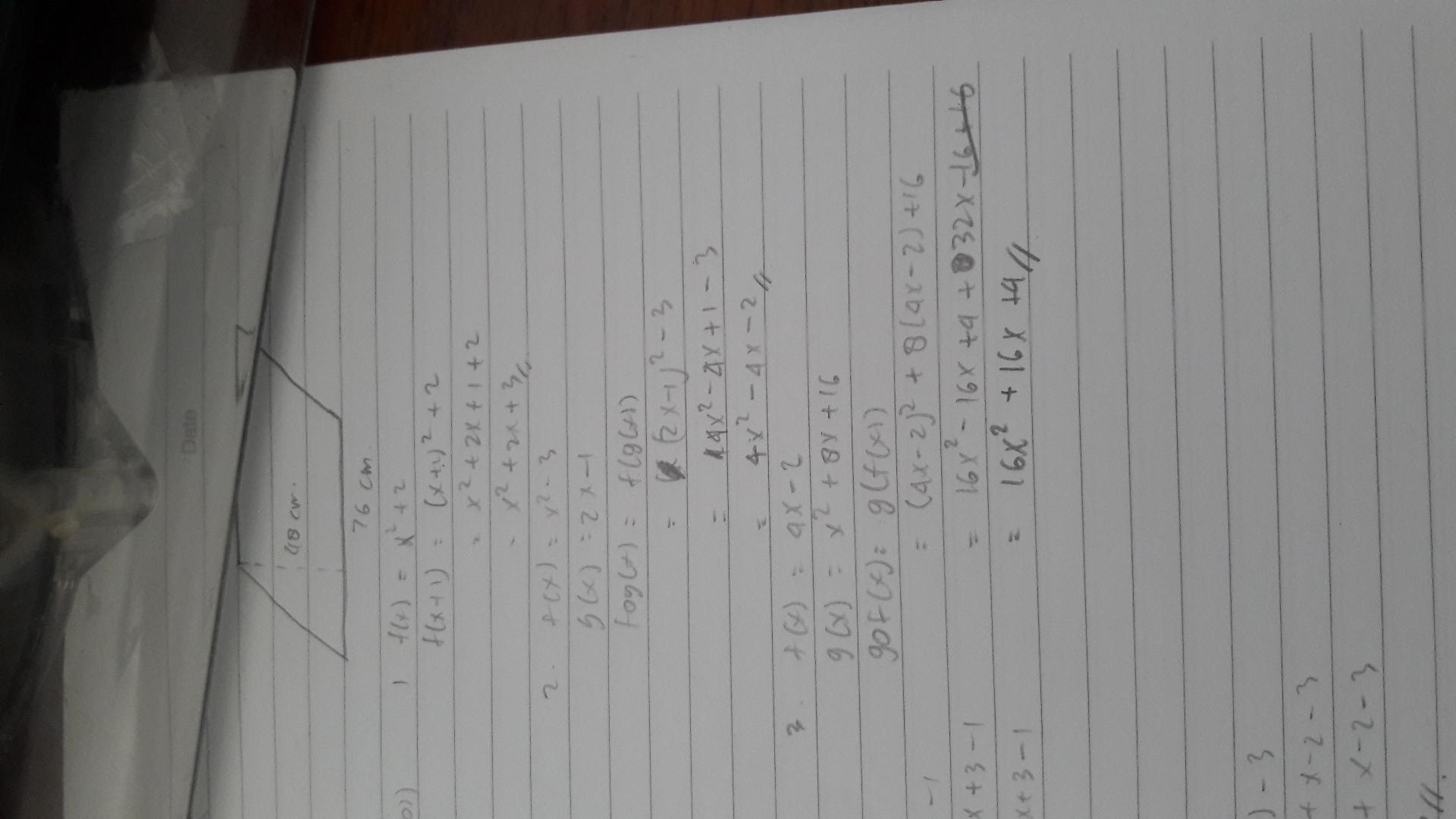 1 jika f(x)=x² + 2 maka f(x+1) = 2 diketahui f(x)=x²- 3 ...