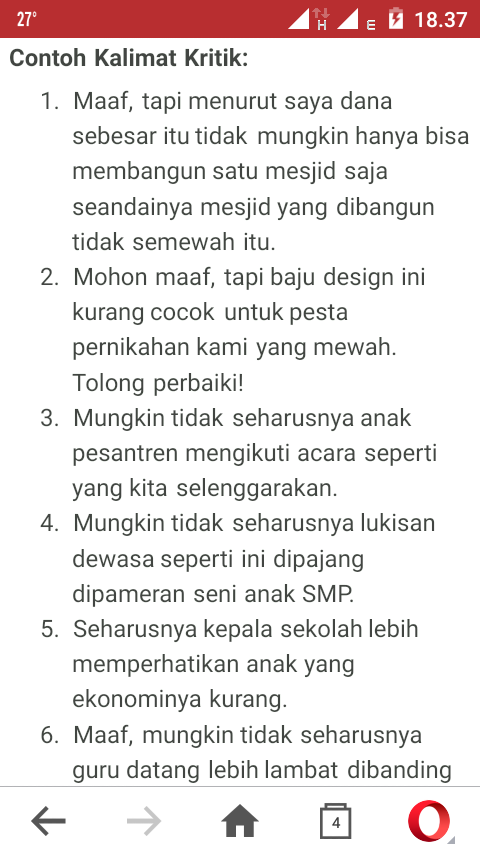 Contoh Teks Tanggapan Kritis Simple Brainly Co Id