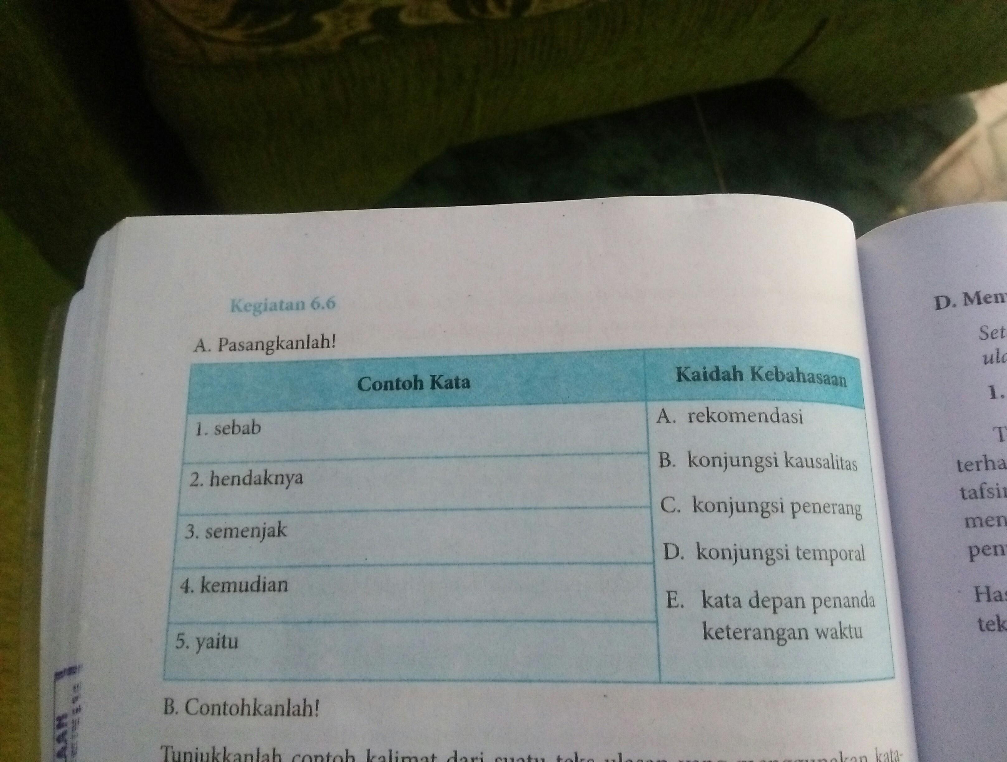 kegiatan 6.6 buku cetak bahasa indonesia kelas VIII ...