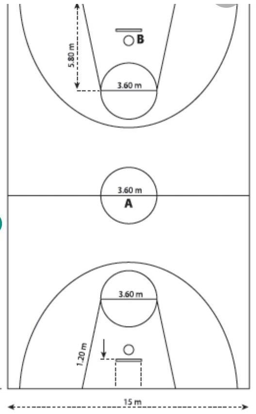 Buatlah Gambar Lapangan Bola Basket Beserta Ukurannya Brainly Co Id
