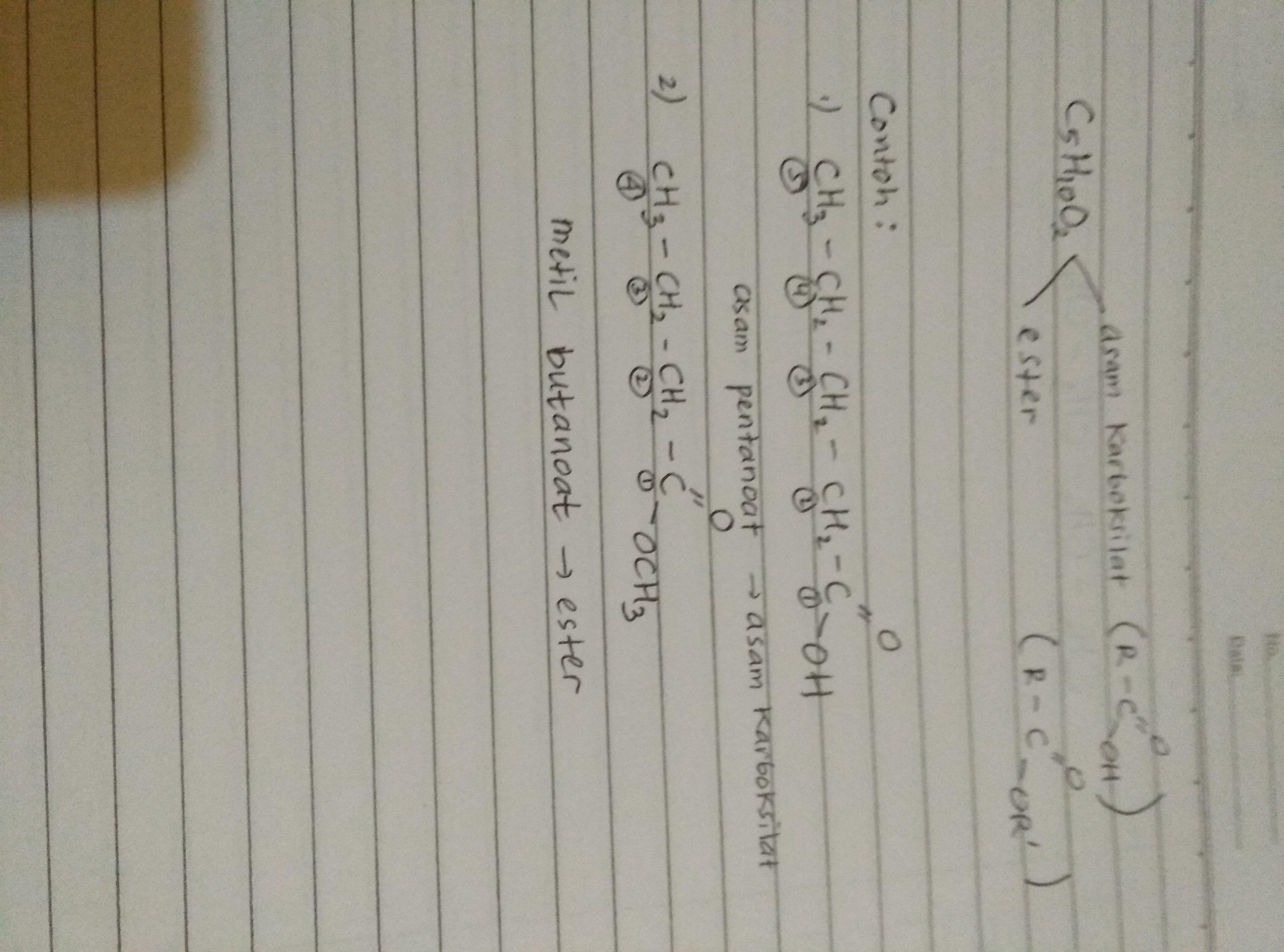 Bentuk Dan Nama Struktur Dari Rumus Senyawa C5h10o2 Brainly Co Id