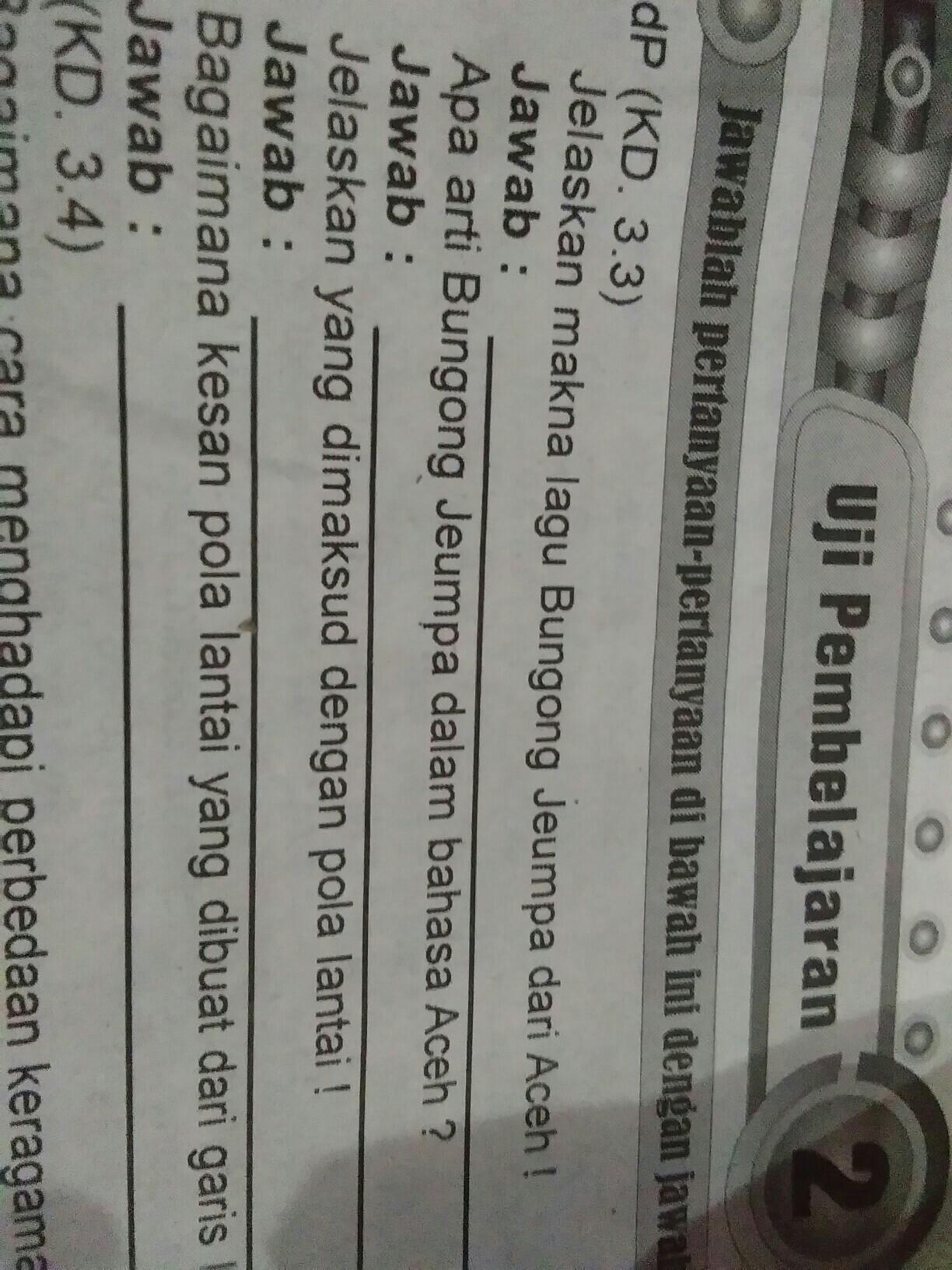 Apa Arti Bungong Jeumpa Dalam Bahasa Aceh No 2 Brainly Co Id