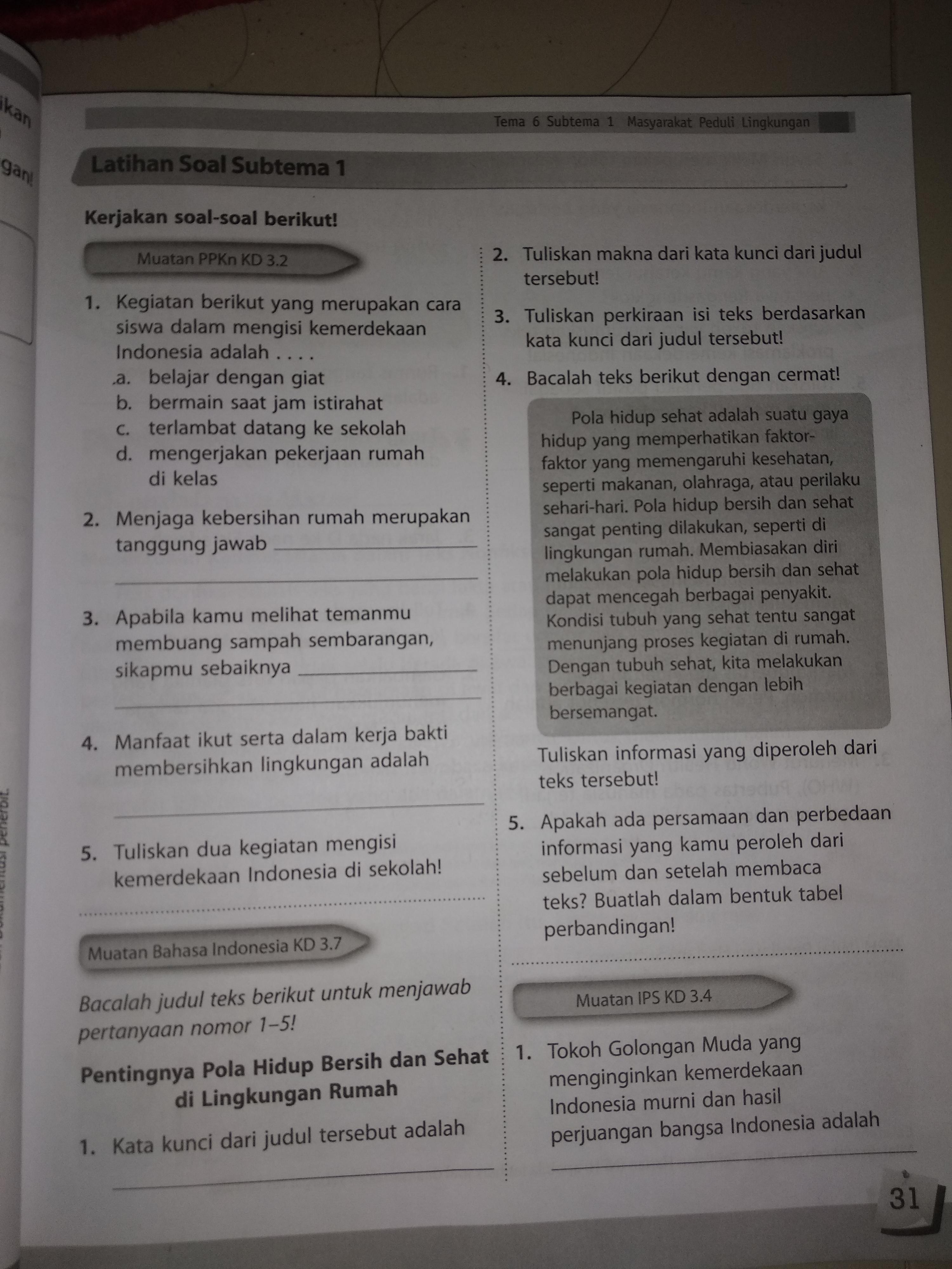 Tolong Bantu Jawab Nomor 5 Pelajaran Bahasa Indonesia Brainly Co Id