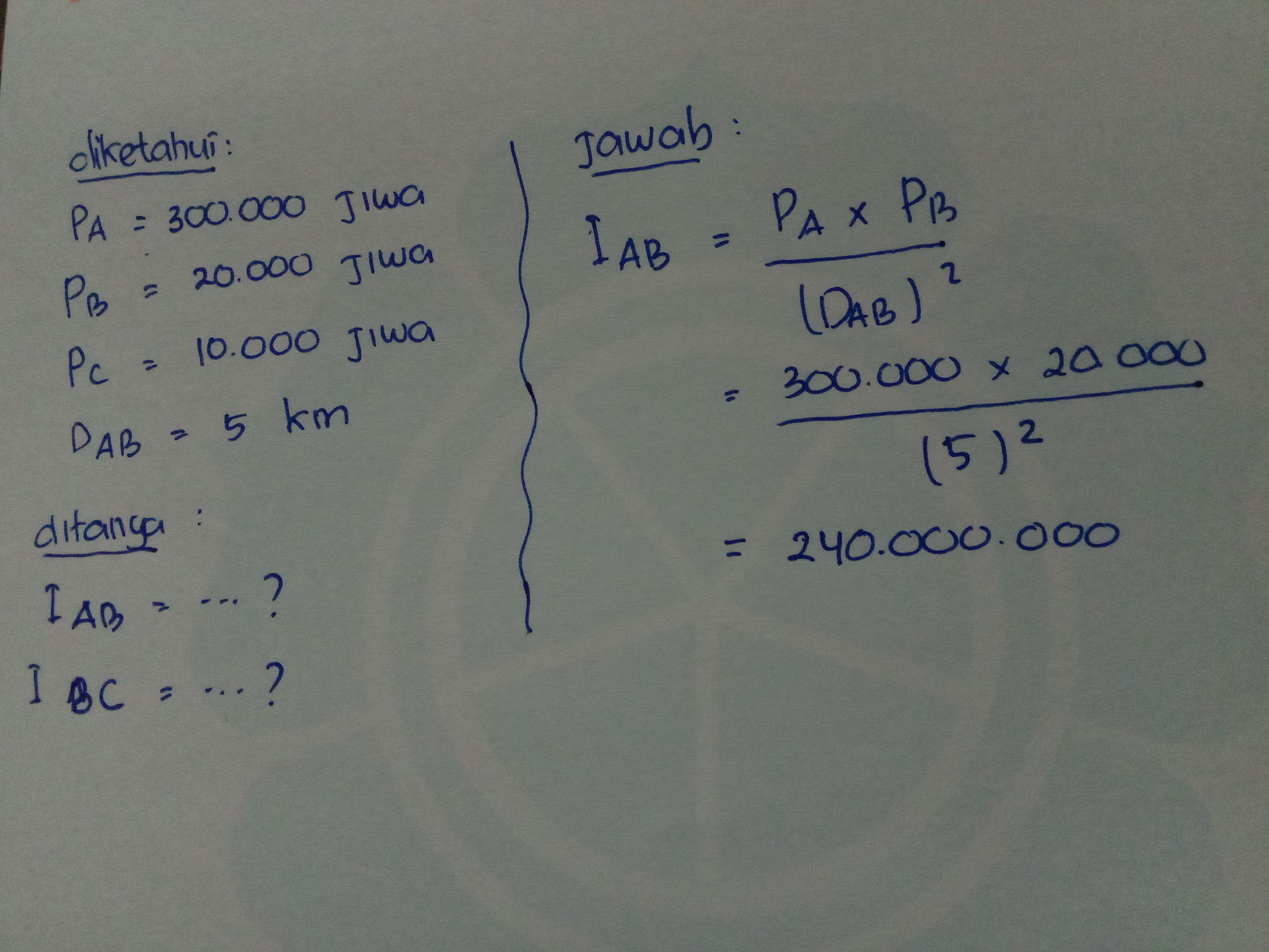 hitunglah interaksi antara a b dan c Apabila diketahui ...