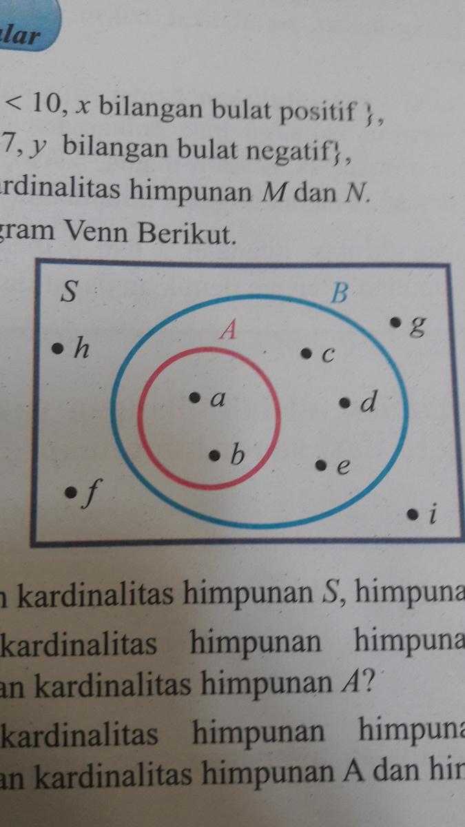 Perhatikan diagram venn berikuta tentukanlah kardinalitas himpunan unduh jpg ccuart Images