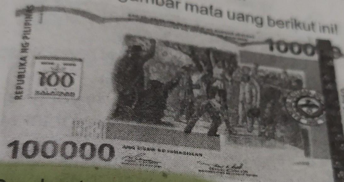gambar tersebut adalah uang negara a .Singapura B .Brunei ...