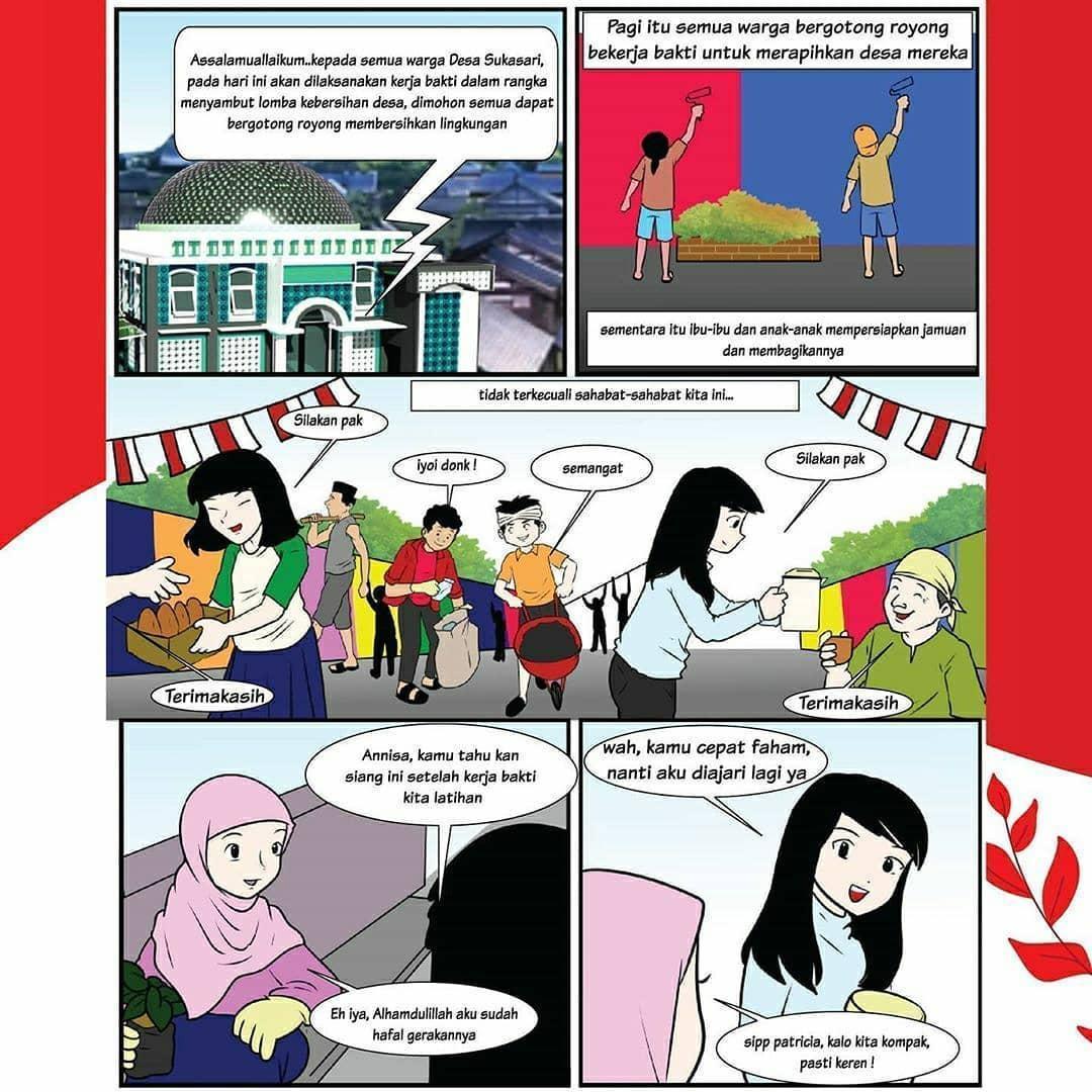 Buatlah Komik Cerita Dan Bergambar Yang Mencerminkan Pengamalan Pancasila Jangan Lupa Di Beri Warna Brainly Co Id