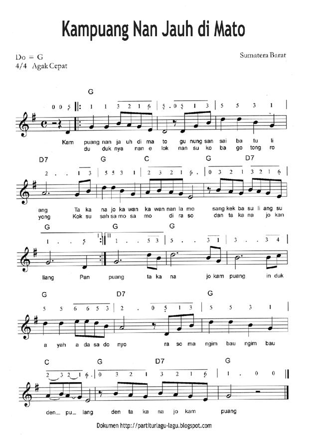 Tuliskan Lirik Lagu Not Balok Dan Not Angka Dari Lagu