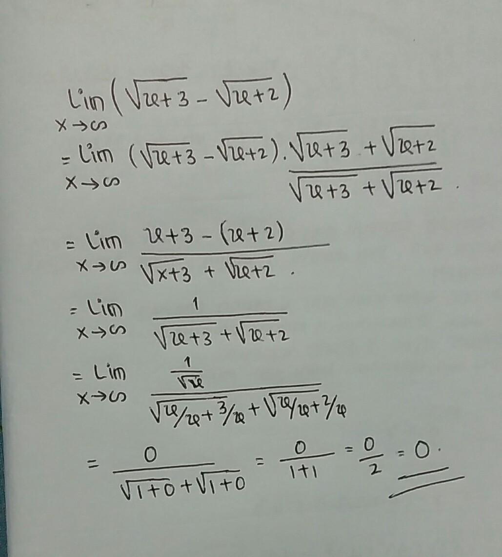 Limit Akar : Limit Tak Hingga Trigonometri Imaginelasopa ...