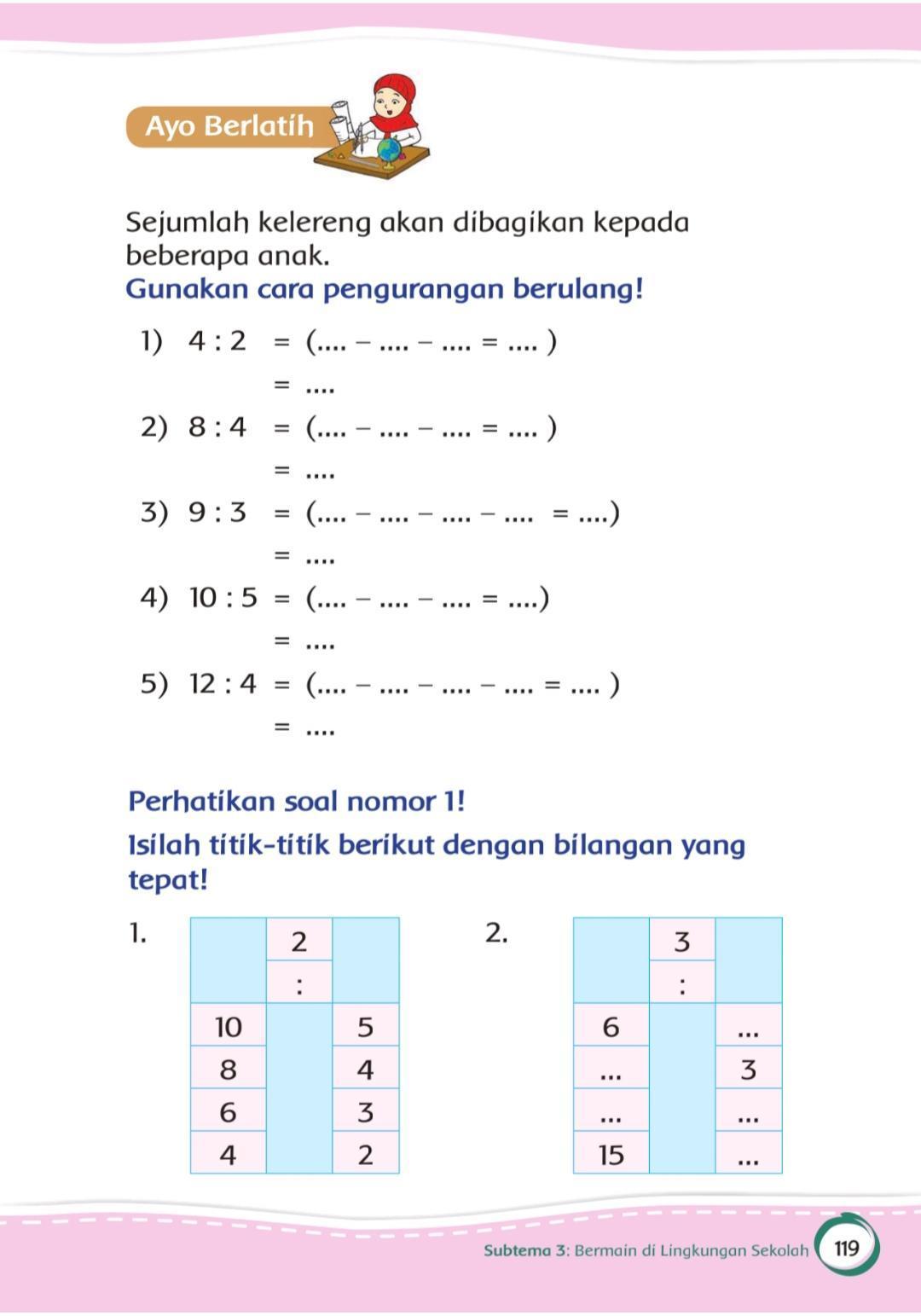 Jawaban Matematika Kls 2 Sd Tema 2 Hal 119 Brainly Co Id