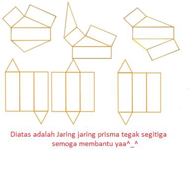jaring jaring prisma tegak segitiga yang benar adalah ...