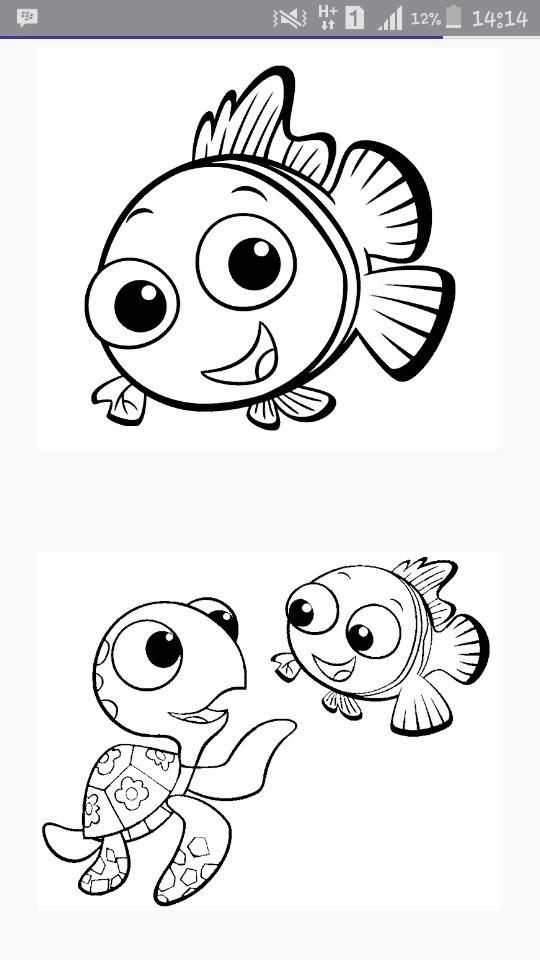 Contoh Gambar Lukisan Krayon Ikan Nemo Brainly Co Id