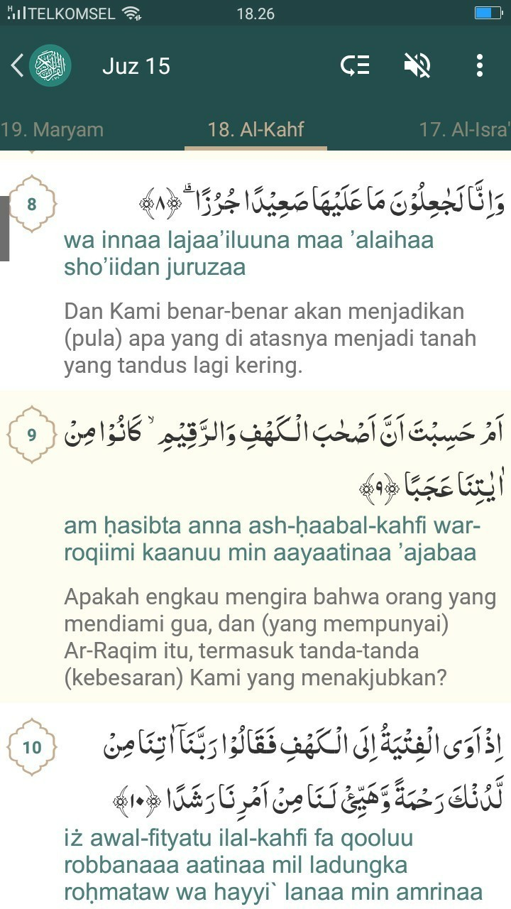 Surah Al Kahfi Ayat 1 10 Beserta Artinya Brainlycoid