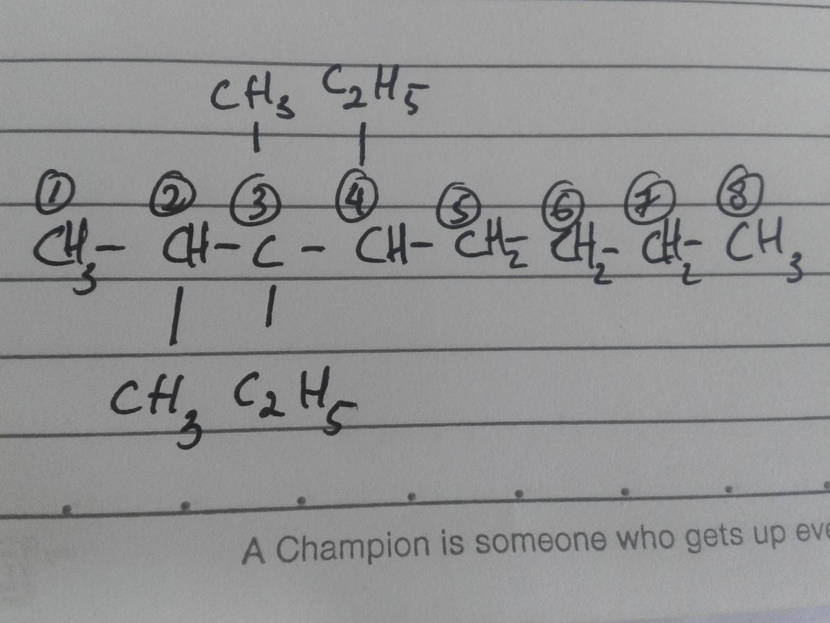 Gambarkan Struktur Molekul Dari Senyawa Kimia 3 4 Dietil 2 3 4 Trimetil Oktana Brainly Co Id
