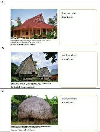 Tuliskan Nama Provinsi Asal Setiap Gambar Rumah Adat Dan Keunikan Yang Terlihat Pada Setiap Rumah Brainly Co Id