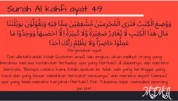 Tuliskan Surat Al Kahfi Ayat 49 Beserta Artinya For Yeh Suh