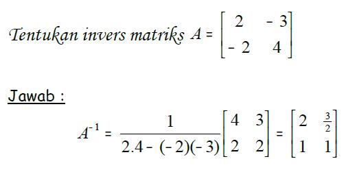 Bagaimana Cara Mencari Invers Matriks Brainly Co Id
