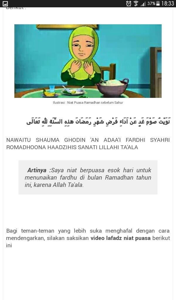 Niat Puasa Ramadhan Dilakukan Brainly