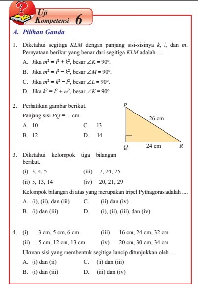 Uji Kompetensi 6 Matematika Kelas 8 Semester 2 Hal 46 Nomor 6 Ilmusosial Id