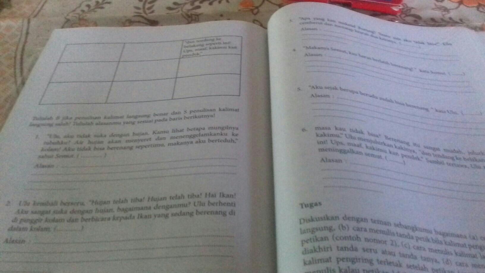 Jawaban Buku Paket Bahasa Indonesia Kls 7 Hal 226 227 Brainly Co Id