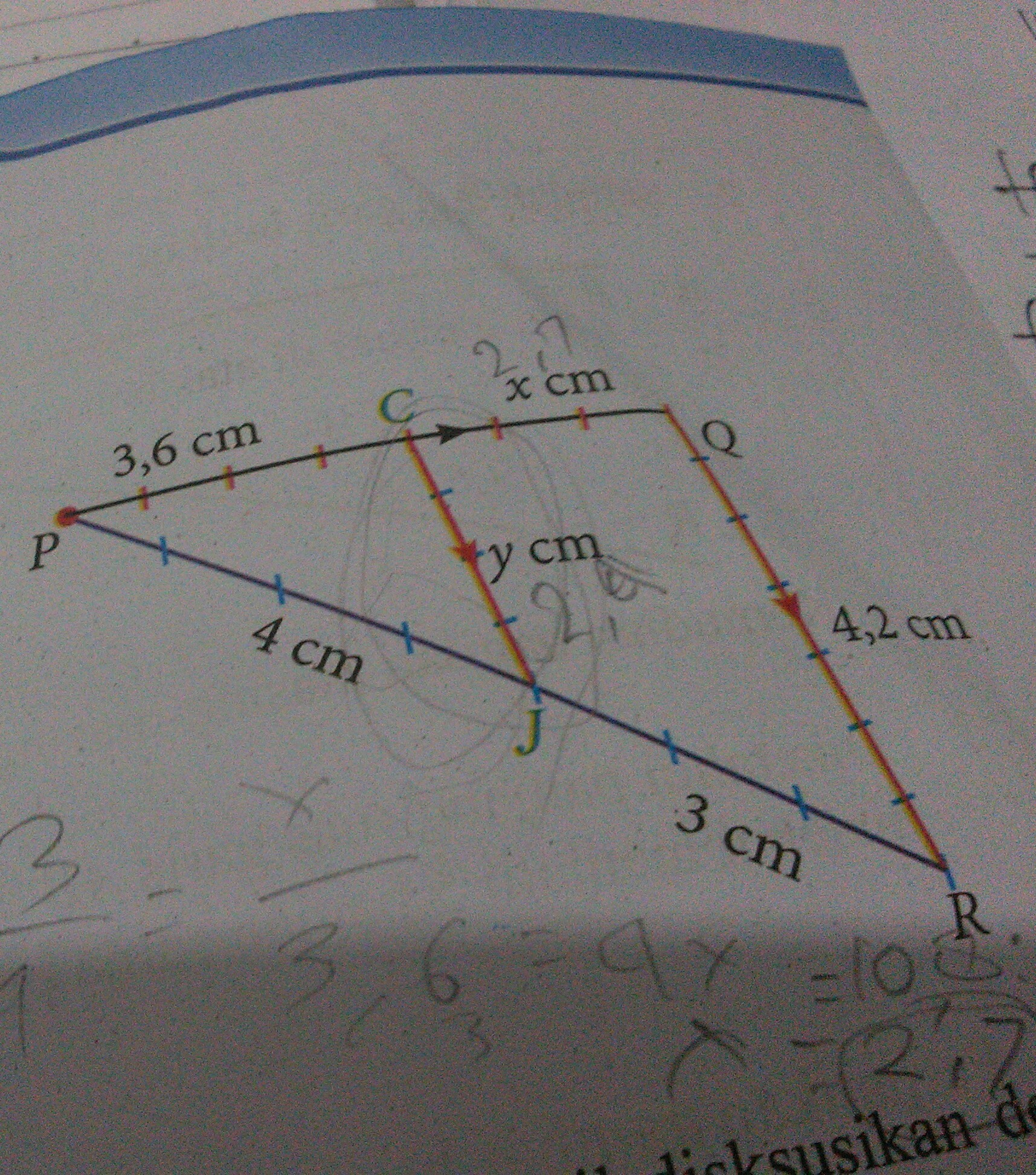 perhatikan gambar berikut tentukan nilai x dan y - Brainly ...