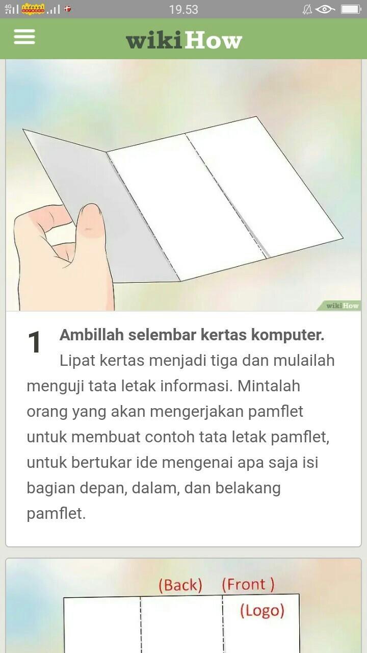 Langkah Langkah Membuat Pamflet Jangan Ngasal Yang Bener