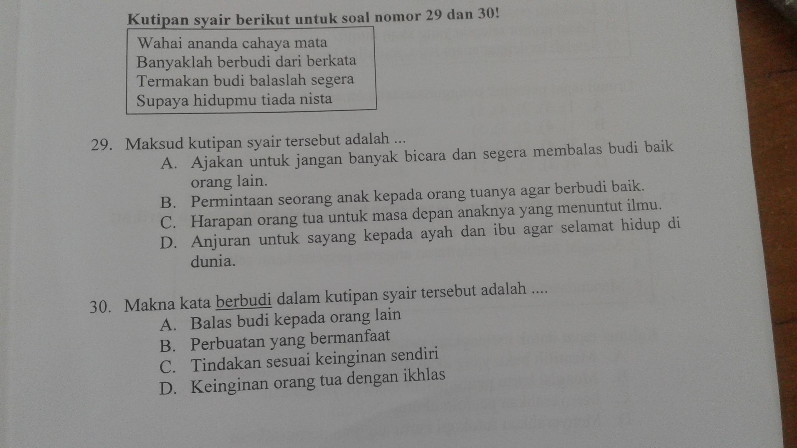 Apa Jawaban No 29 Dan 30 Brainly Co Id