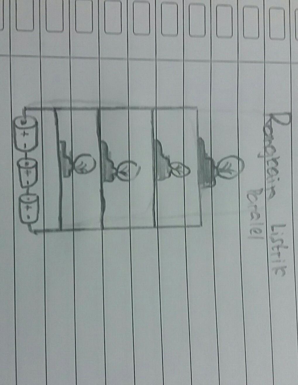 Gambarkan Rangkaian Paralel Komponen 4 Lampu Dan 3 Baterai Brainly Co Id