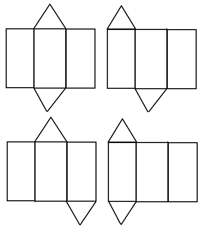 buatlah 3 jaring jaring prisma tegak segitiga - Brainly.co.id