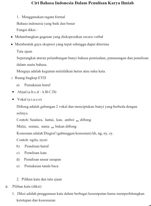 Apa Ciri Bahasa Indonesia Dalam Karya Ilmiah Brainly Co Id