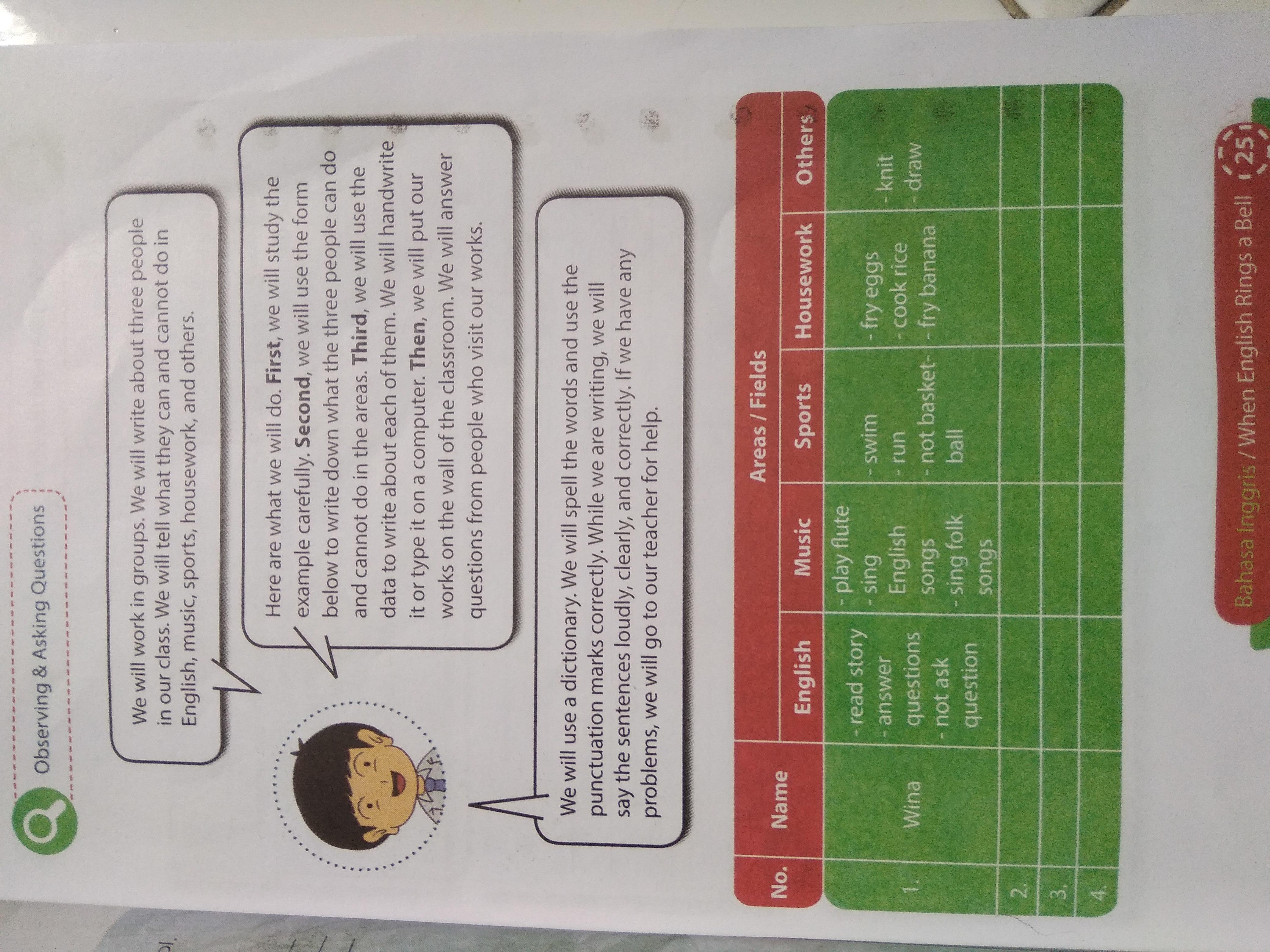 Halaman 25 Dan 26 Bhs Inggris Kelas8 Kurikulum 2013 Brainly Co Id