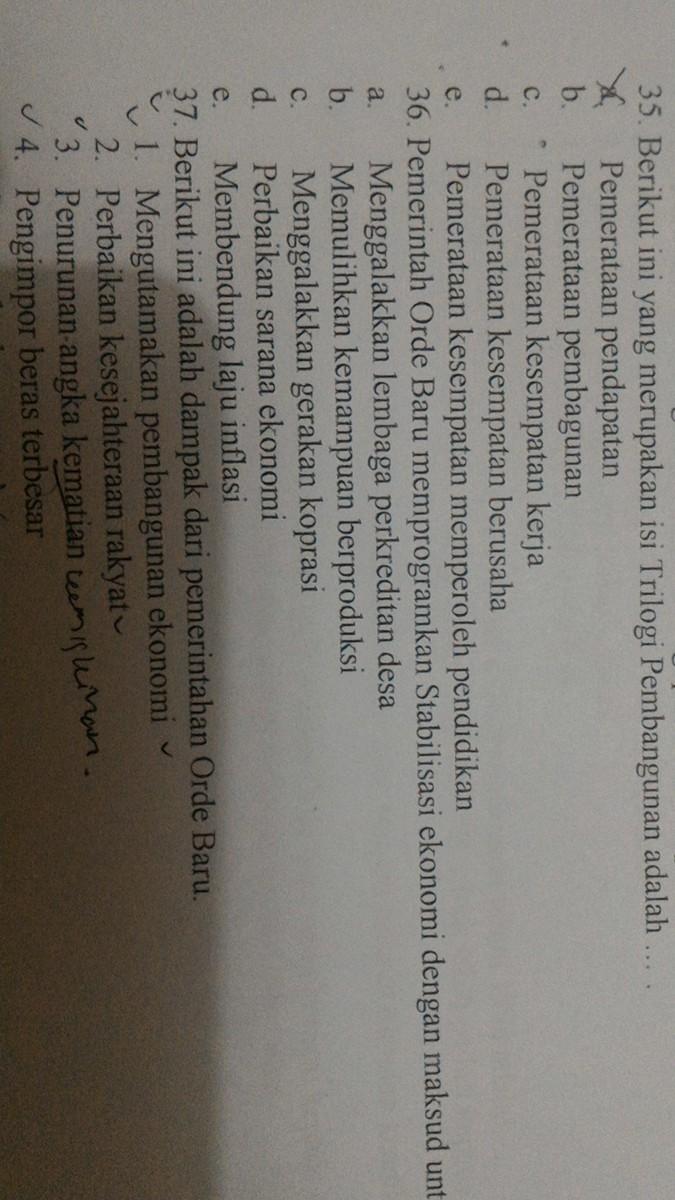 no.36, pemerintahan orde baru memprogramkan stabilitas ...