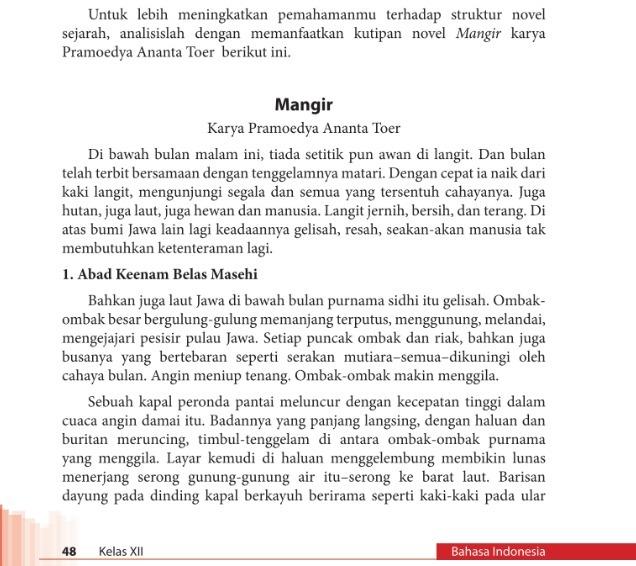 Analisislah Struktur Novel Sejarah Mangir Karya Pramoedya Ananta