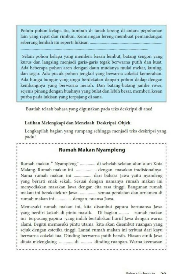 Kunci Jawaban Bahasa Indonesia Halaman 29 Kelas 7 Brainly Co Id