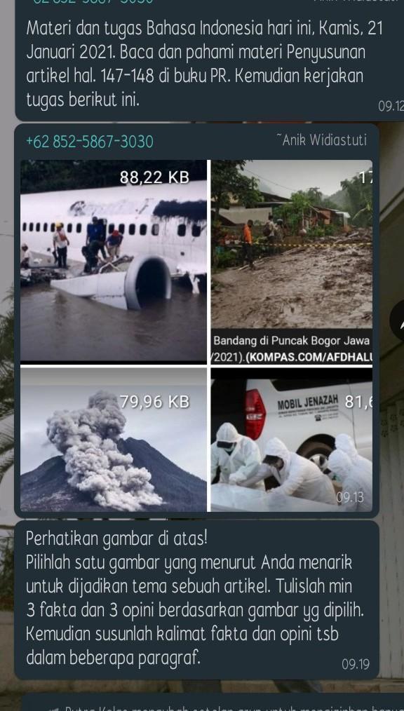 Cari Contoh Artikel Tentang Banjir Beserta Fakta Dan Opini Brainly Co Id