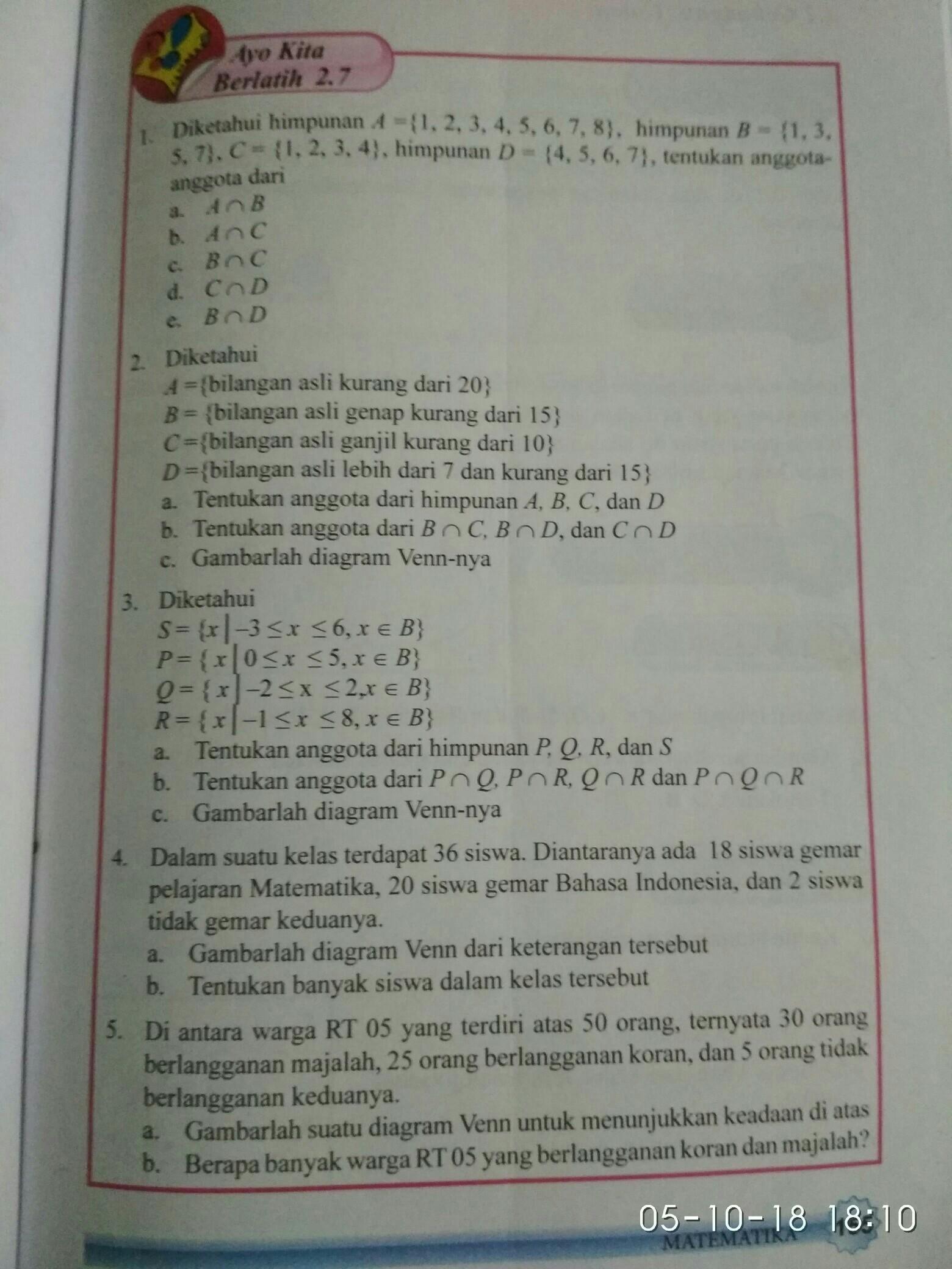 Ayo Kita Berlatih 2 7 Halaman 155 Kelas 7 Kurikulum 2013 Brainly