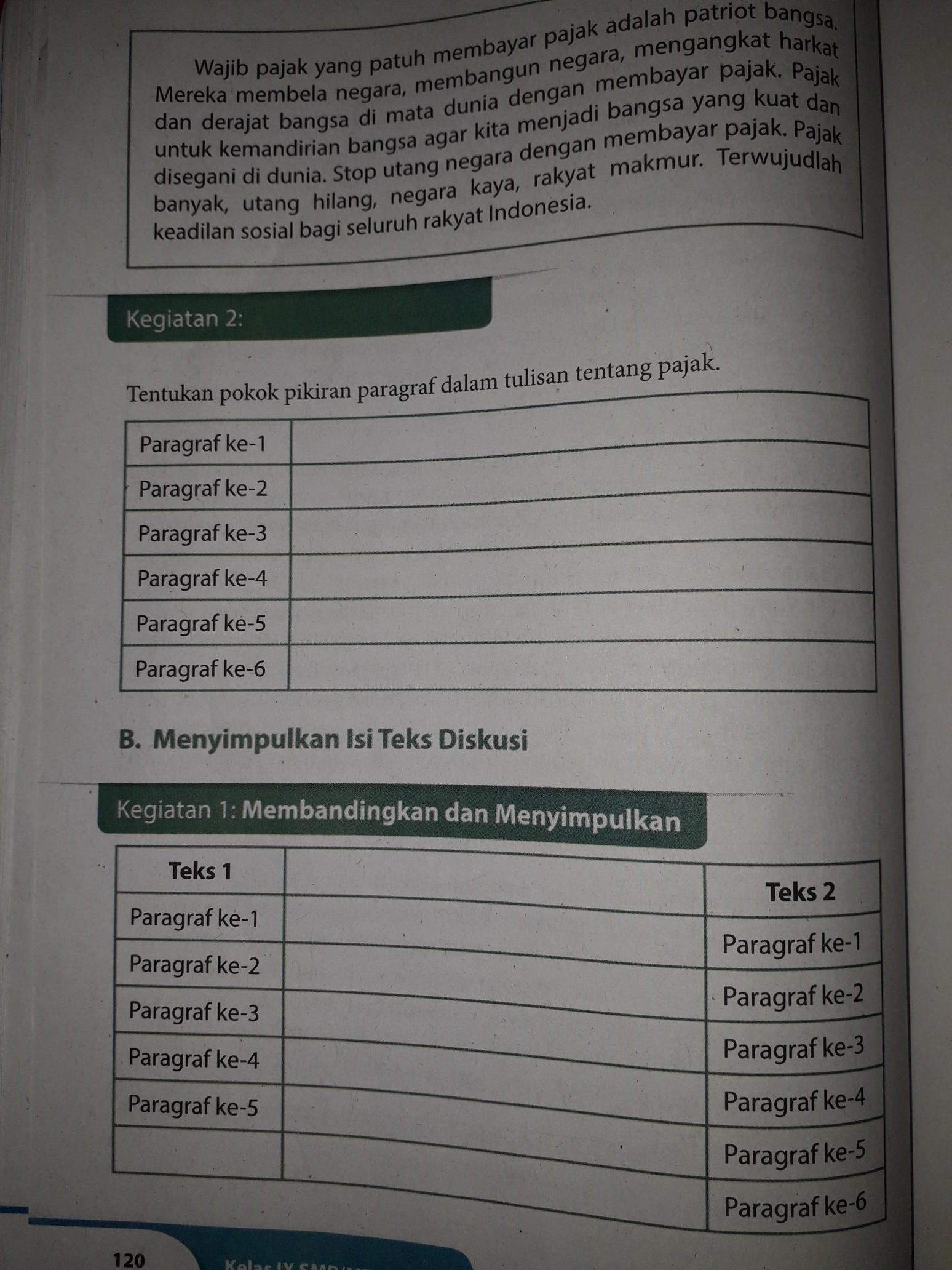 Jawaban Soal Bahasa Indonesia Kelas 9 Halaman 120 Brainly Co Id