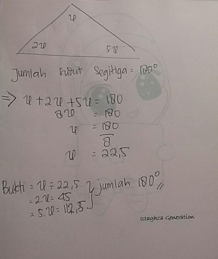 perhatikan gambar di bawah ini!. nilai X pada segitiga PQR ...