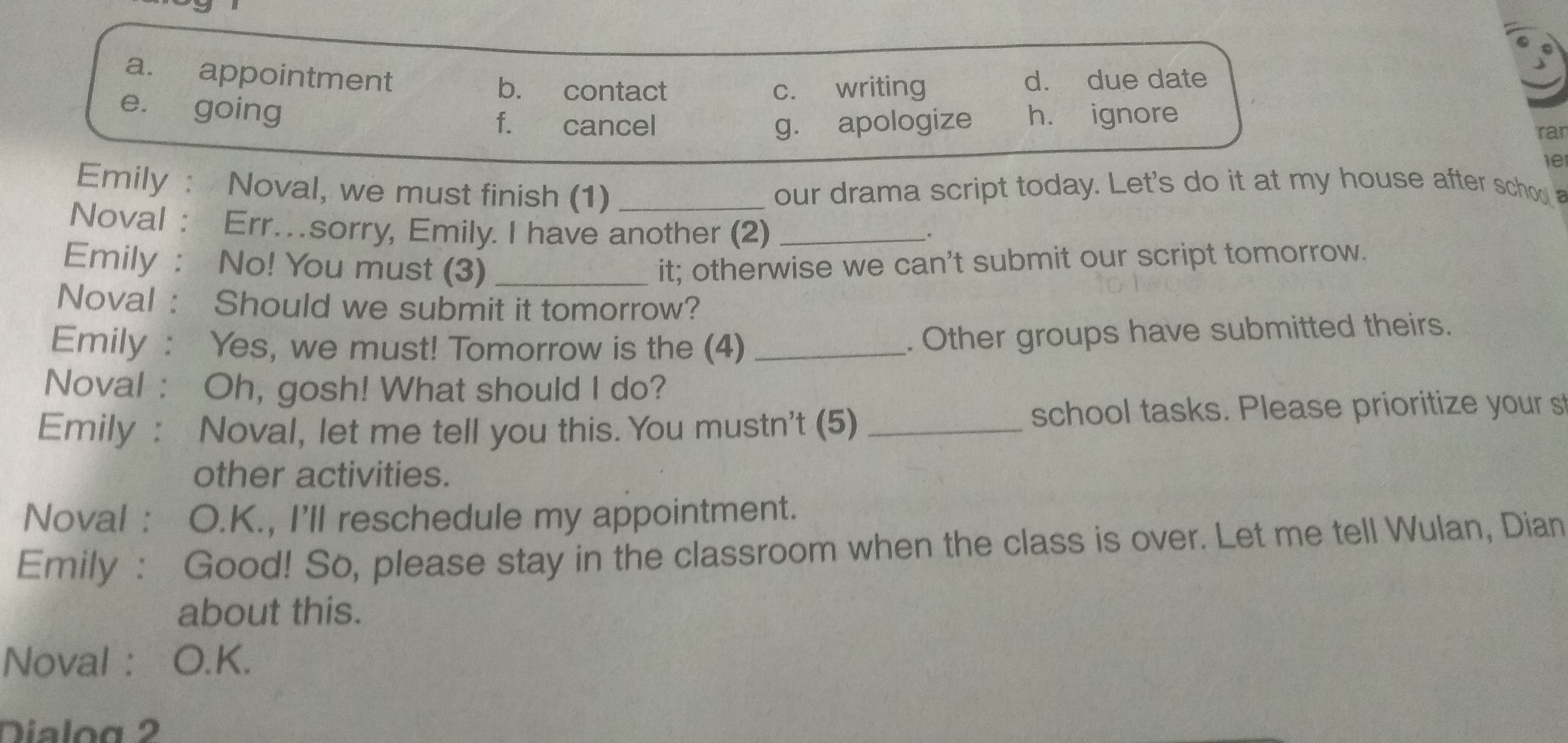 Tolong Kak Sekrng Dikumpul Lks Kelas 8 Bahasa Inggris Hal 38 Task 7 Brainly Co Id
