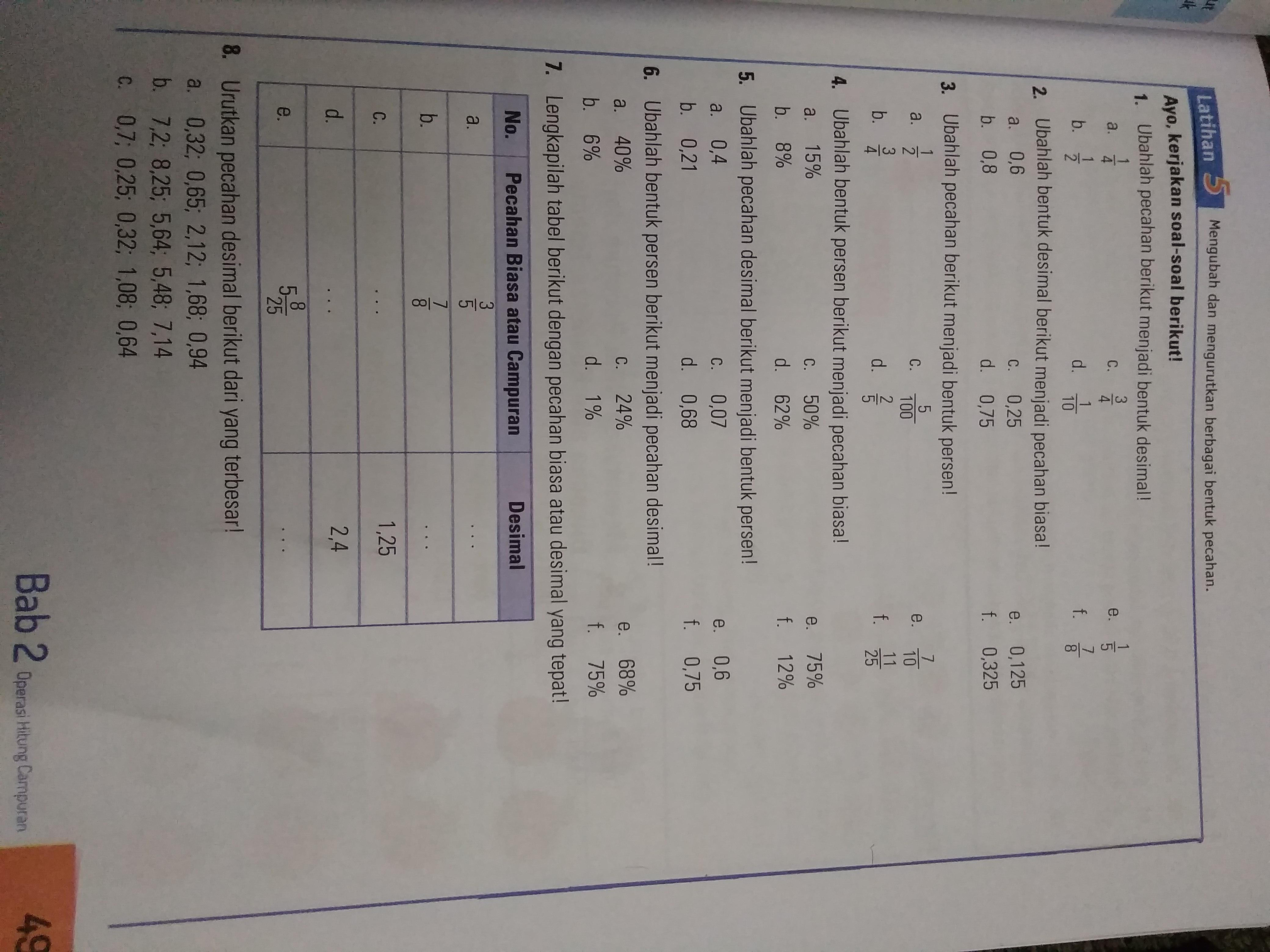 Matematika Kelas 6 Halaman 49 Esps Brainly Co Id