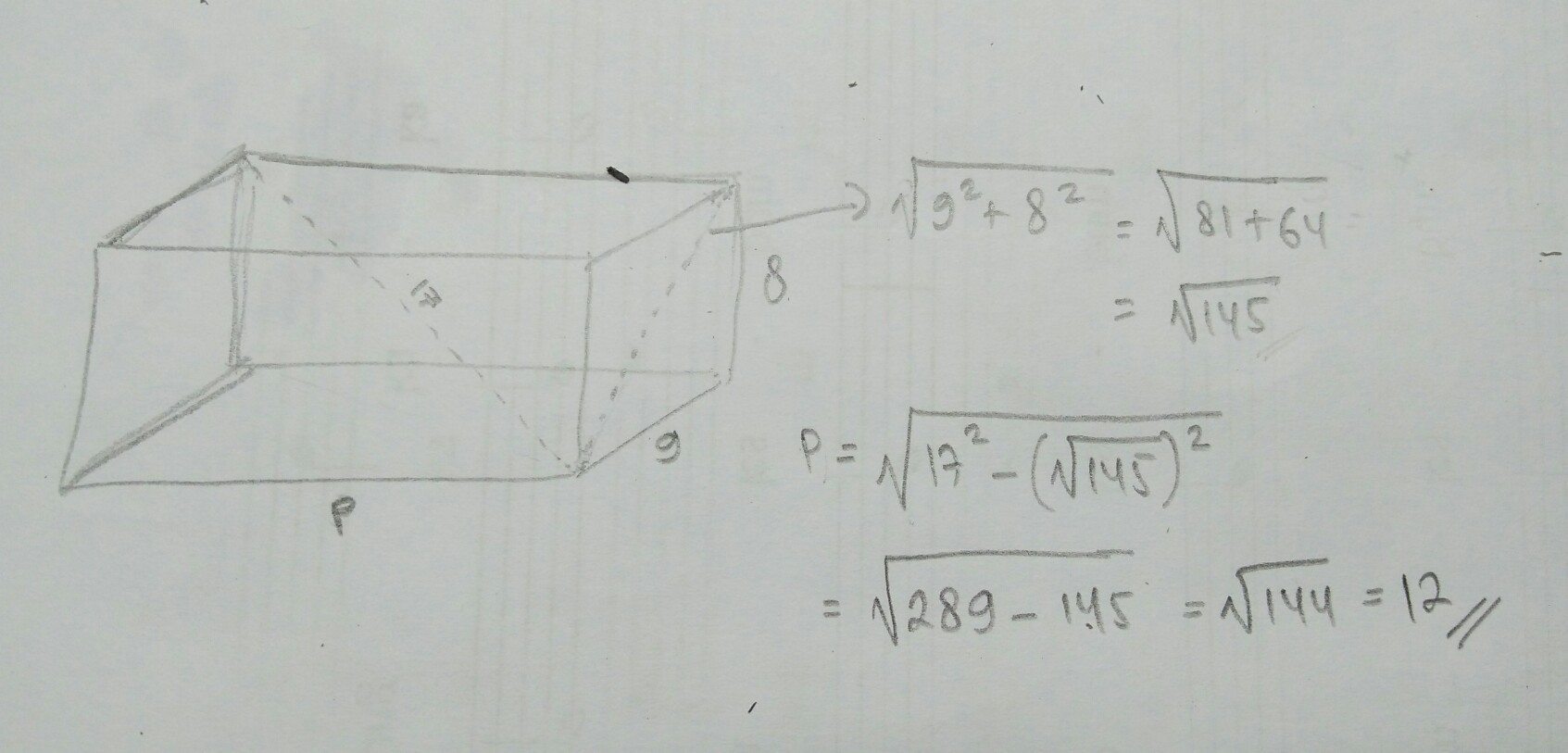 Panjang diagonal ruang sebuah balok adalah 17 cm jika ukuran lebar unduh jpg ccuart Image collections