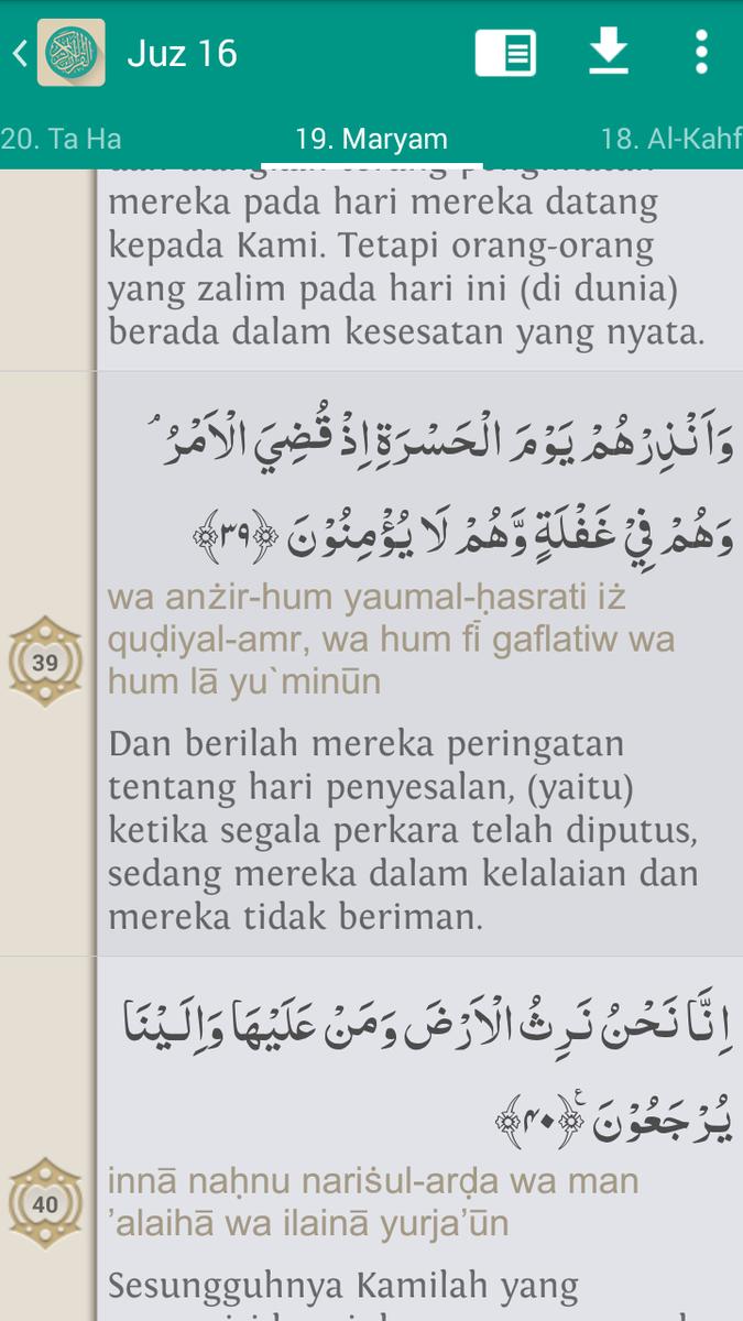 Qsmaryam19 Ayat 39 Dan Artinya Brainlycoid