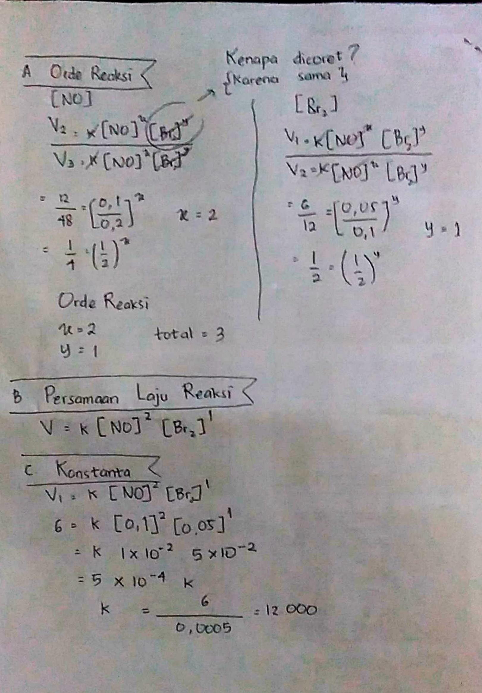 Pada Suhu 273 C Gas Bromin Dapat Bereaksi Dengan Gas Nitrogen Monoksida Menurut Persamaan Reaksi Brainly Co Id